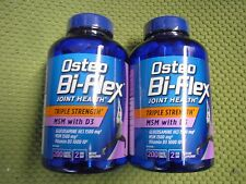 2 X 200 Osteo Bi-Flex TRIPLE STRENGTH Glucosamine MSM with Vitamin D3 - 04/2018