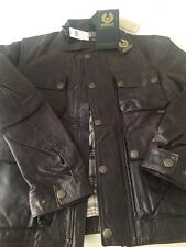 NWT Belstaff Brad Antique  Brown/BlackWax Leather Jacket, Coat Size US Small.