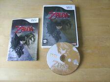 NINTENDO Wii GAME - THE LEGEND OF ZELDA TWILIGHT PRINCESS    *FREE UK P&P*
