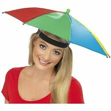 FOLDABLE NOVELTY UMBRELLA SUN HAT GOLF FISHING CAMPING FANCY DRESS MULTICOLOUR