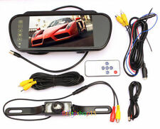"7"" LCD Screen Car Rear View Backup Mirror Monitor+Reverse IR Camera Night Vision"