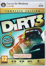 DIRT 3 COMPLETE EDITION for PC XP/VISTA/7 SEALED NEW