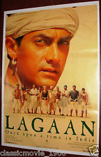 LAGAAN : ONCE UPON A TIME IN INDIA BOLLYWOOD POSTER # 7 AAMIR KHAN