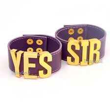 YES SIR Bracelet - Suicide Halloween Squad HQ Purple Cuff Bracelet
