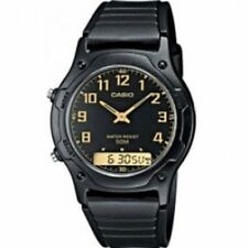 Casio AW49H-1BV Men's Dual Time Watch Black Brand New