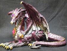"""Purple RECLINING DRAGON  Jeweled    H8.5"""" x W10.75"""""""