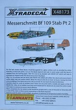 Xtradecal 1/48 X48173 Messerschmitt Bf109 Stab Decal set pt 2