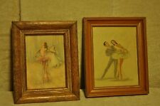 Vintage Signed Prints and Framed Ballet Pictures Small Size