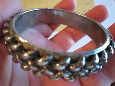 LOT OF 6 SILVER PLATED BANGLE BRACELETS - SEE PICS - NICE DESIGNS - TUB BBA-4
