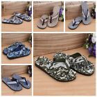 Men's Fashion Casual Camouflage Massage Shoes Sandals Slipper Beach Flip-flops