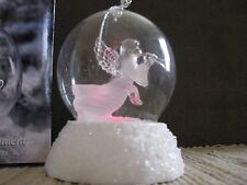 Heritage Mint Holiday Ice Sculptures Angel lighted globe ornament