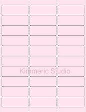 "6 SHEETS 1""x2-5/8  BLANK PINK STICKERS LABEL ADDRESS. MANY USES."