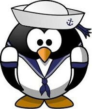 30 Custom Sailor Penguin Personalized Address Labels