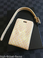 Brand NEW Genuine Vertu Luggage Tag Cream Leather Super RARE VIP GIFT RARE