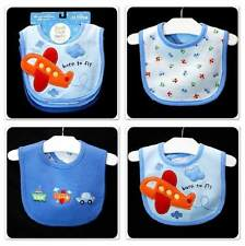 3PK~New/NWT~CARTERS~JUST ONE YEAR~AIRPLANE TRAVEL BIB SET~BABY BOYS GIRLS UNISEX