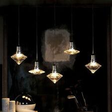 Hochwertige LOFT Pendelleuchte Hängeleuchte aus Glas 3WLED Diamant Vintage Retro