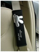 NEW Disnay Mickey Mouse Car Seat Belt Seatbelt Cover Pair