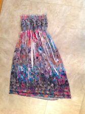Anthropologie Lapis Lined Sundress Sequins Silky Boho Hippie Tribal One Size
