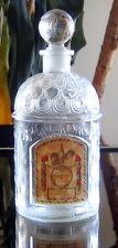 """Guerlain 1930's: Large Empty """"Eau de Cologne du Coq"""" Guerlain Bottle. 16 Oz. 8""""."""