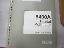 Fluke 8400A Digital Volmeter Instruction Manual 314716  3311d1
