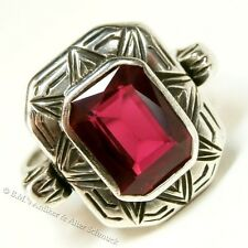 original um 1925 antiker Art Deco Ring 835 Silber Spinell Top-Zustand 18,4 / 58