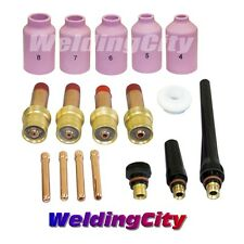 "WeldingCity Cup-Collet-Gas Lens 0.040""~1/8"" Kit in TIG Torch 17/18/26 T6"