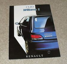 Renault Clio Williams 2 Brochure 1994