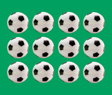 12 Soccer Foosballs - Black & White Engraved Table Soccer Balls