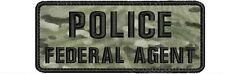 POLICE FEDERAL AGENT embroidery patch  2x5 hook MULTICAM