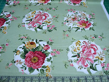 3 Yards Quilt Cotton Fabric - Northcott Charlotte Floral Medallions Sage