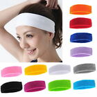Unisex Sports Sweat sweatband Headband Yoga Gym Stretch Head Band Hair Band