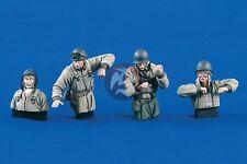 Verlinden 1/35 US Tank Crew Soldiers Wet / Cold Dress WWII (4 Half-figures) 1586