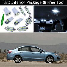 6PCS Xenon White LED Interior Car Lights Package kit Fit 2004-2012 Subaru WRX J1