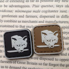2 PCS MINI GEAR SOLID FOX HOUND BADGE TACTICAL ARMY MORALE 3D PVC PATCH