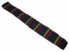 Rugby Ralph Lauren Navy Blue Yellow Red Polo Knit Italy Silk Collegiate Tie