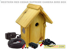 Supreme Cedar Bird Box Camera Kit - Colour, Night vision, Sound, nest box 540TVL