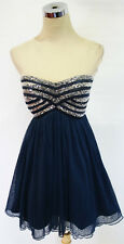 SEQUIN HEARTS Navy Hot Dance Party Dress 7 - $70 NWT
