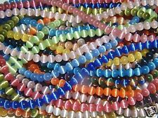 NEW 10 Strands Cat 6mm Assorted Cats Eye Beads 6mm FREE SHIPPING