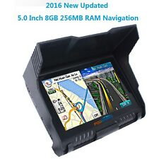 "8GB 5"" TFT Touch Screen Waterproof Bluetooth Motorcycle Car GPS Navigator + Maps"