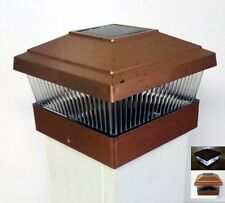 Garden Sun Light Solar Powered 5x5 Outdoor Post Cap, Copper