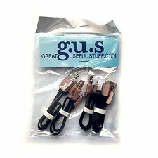 "Set of 4, Short/9"" USB to Apple Lightning Cables - Black. BRAND NEW!"