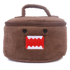 Anime Cartoon Domo Kun Plush Portable Shopper Lunch Container Handbag Tote Bags