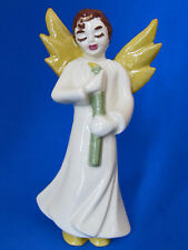 """HEAVENLY CHRISTMAS ANGEL"" FIGURINE *HOLDING A CANDLE * CERAMIC ARTS STUDIO 1942"