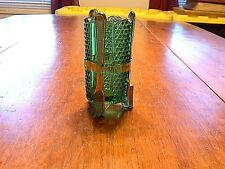 Antique EAPG Emerald Green Tooth Brush Holder