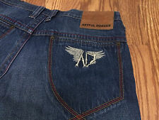 Men's Artful Dodger Jeans Embroidered Bone Wings size 38 RARE