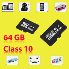 64GB Class 10 Micro SD SDHC mini Memory Card TF Flash For Phone Tablet-UK Stock