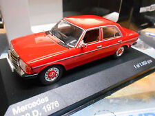 MERCEDES Benz 200 D DIESEL CLASSE e w123 Berlina Rosso Red Ixo WHITE BOX 1:43