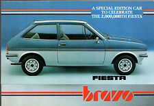 Ford Fiesta Mk1 Bravo Limited Edition 1981 UK Market Sales Brochure 1100 1300