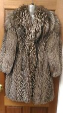 J5 new design 100% real  silver fox fur long coat