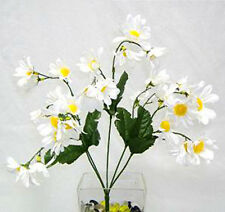 30 Small Daisies ~ WHITE ~ Silk Wedding Flowers Bouquets Centerpieces Decoration